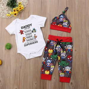 Supercool Daddy's Little Superhero 3pc Set