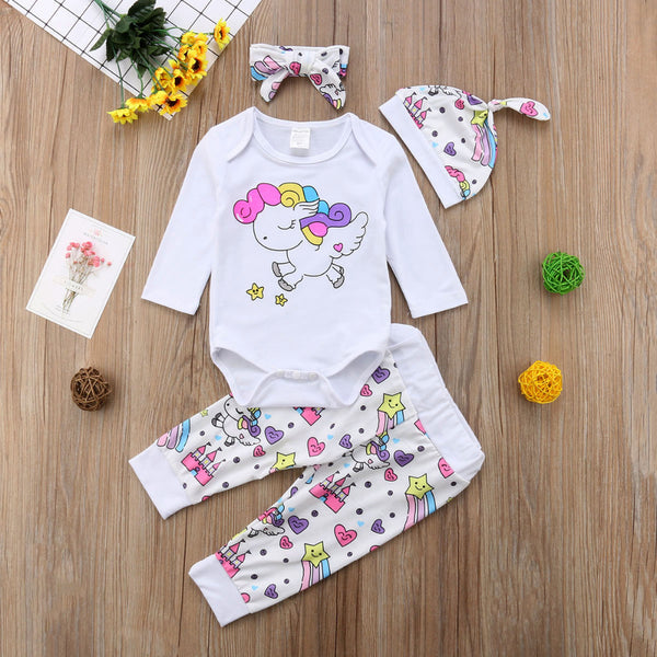 Rainbow Unicorn 4pc Set