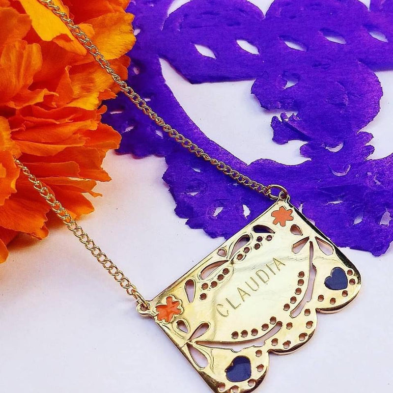 Collar papel picado
