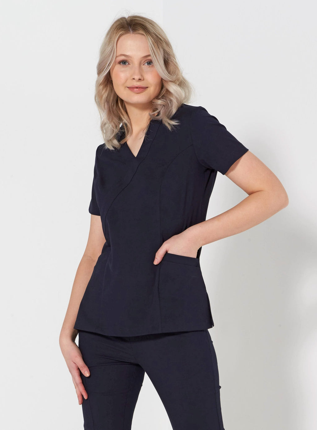 550-SP: Ladies fitted stretch scrub top OUT OF STOCK