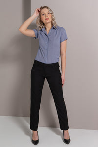 174K-ME-BLK: Skinny leg low rise key loop pant