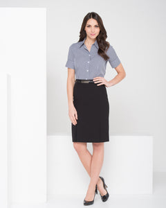 315-MF-BLK: Kick pleat skirt