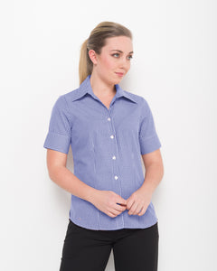 200-GI-BLU: 1/2 sleeve semi fitted shirt