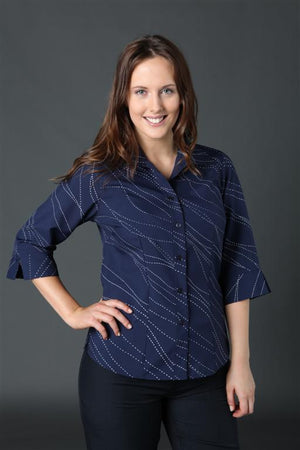 2172-WA-P31: 3/4 sleeve semi fitted shirt
