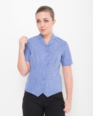 222-BR-P51: S/S revere collar fitted shirt
