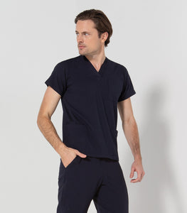 552-SP NAVY Unisex stretch scrub top