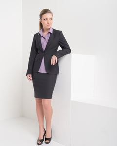 650-FA-CHA: Single button jacket with pockets