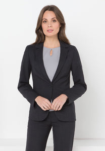 651-WT-CHA: Single button jacket with pockets