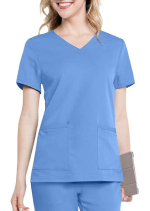 LA9063 - Chelsea scrub top, Light Blue