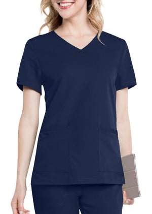 LA9063 - Chelsea scrub top, Light Navy