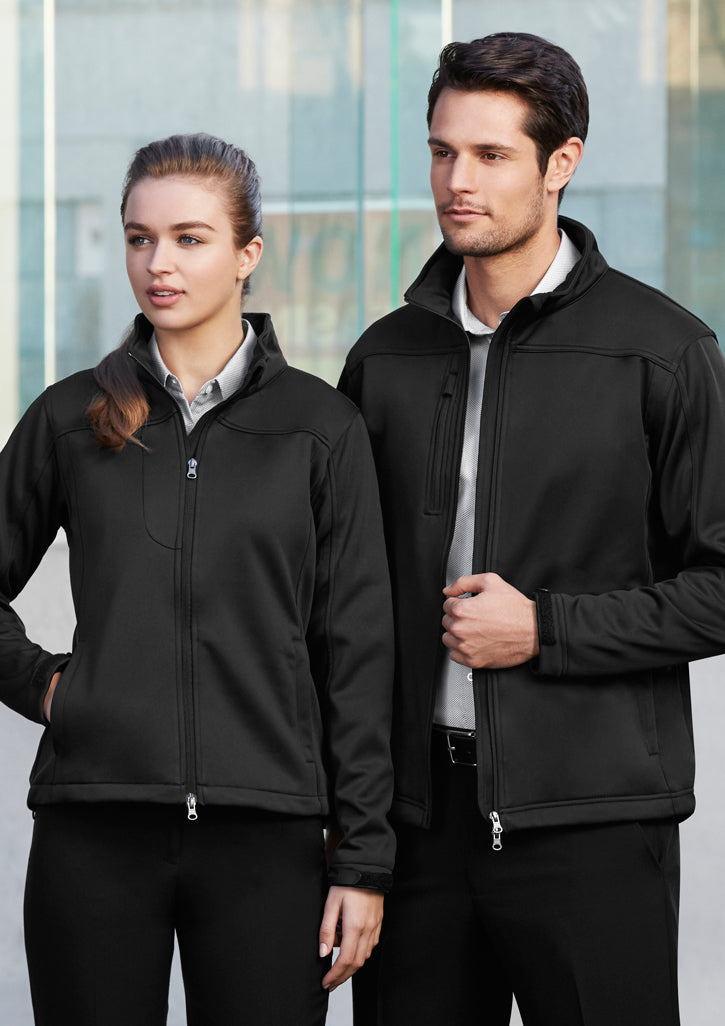 FBJ3880-BLK: Unisex soft shell jacket