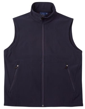 WIJK26-NVY Ladies soft shell vest