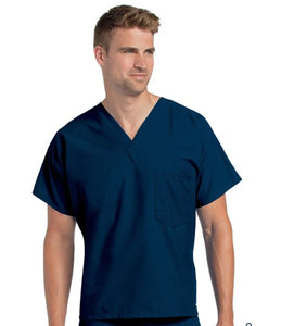 LA7502 - Unisex scrub top Navy