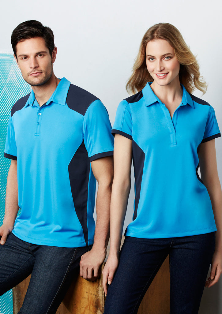 FBP705MS-CYN/NVY: Unisex Rival polo
