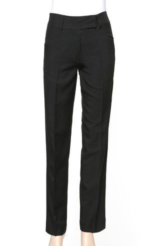 173K-ME-BLK: Straight leg wide band keyloop pant