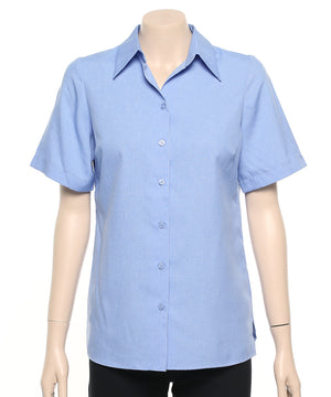 2162-PL-PER: S/S easy fit action pleat shirt