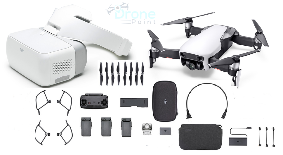Mavic Air Fly More Combo & DJI Goggles - Arctic White (IN STOCK) - dronepointcanada