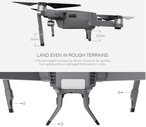 PGY-TECH Landing Gear Extensions - Mavic Pro - dronepointcanada