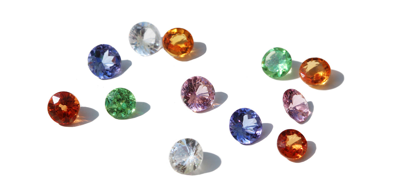 loose coloured Sri Lankan sapphires