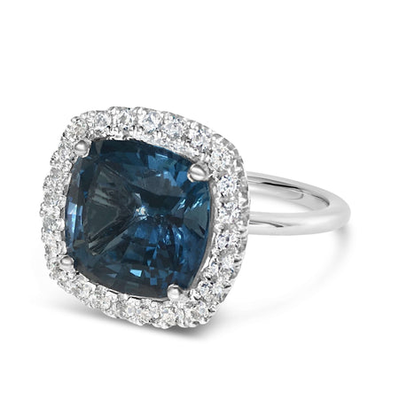 London Blue Topaz and white sapphire ring