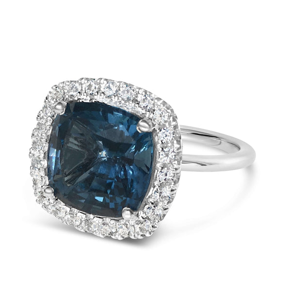 Barcelona London Blue Topaz Cocktail Ring - Finnly's