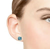 Barcelona London Blue Topaz and White Sapphires Studs Earrings