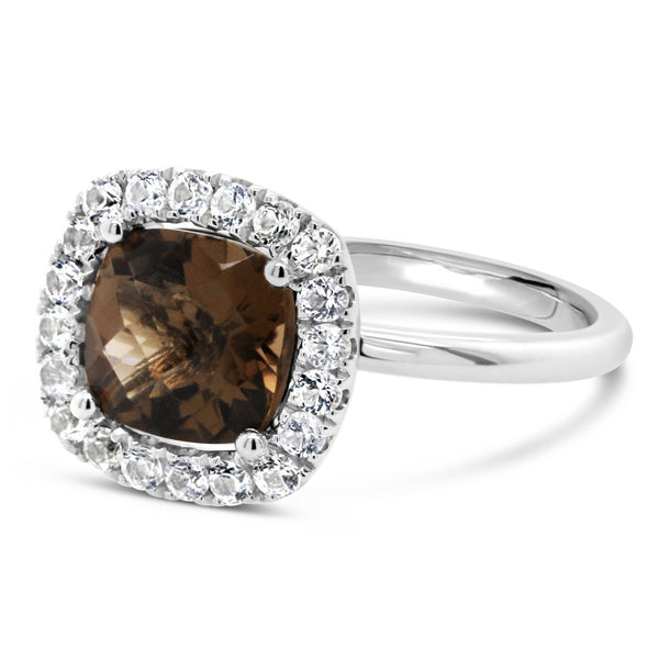 Barcelona Smokey Quartz Cocktail Ring - Finnly's