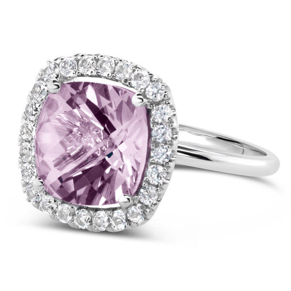 Barcelona Rose de France Amethyst Cocktail Ring