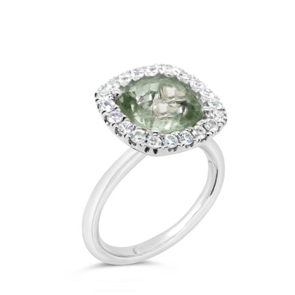 Barcelona Petit Green Amethyst Cocktail Ring