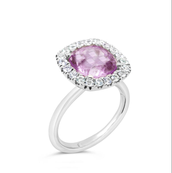 18k Barcelona Petit Rose de France Cocktail Ring