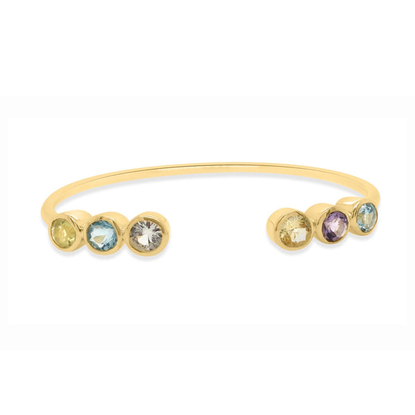 Capri Rainbow Cuff Bangle - Finnly's