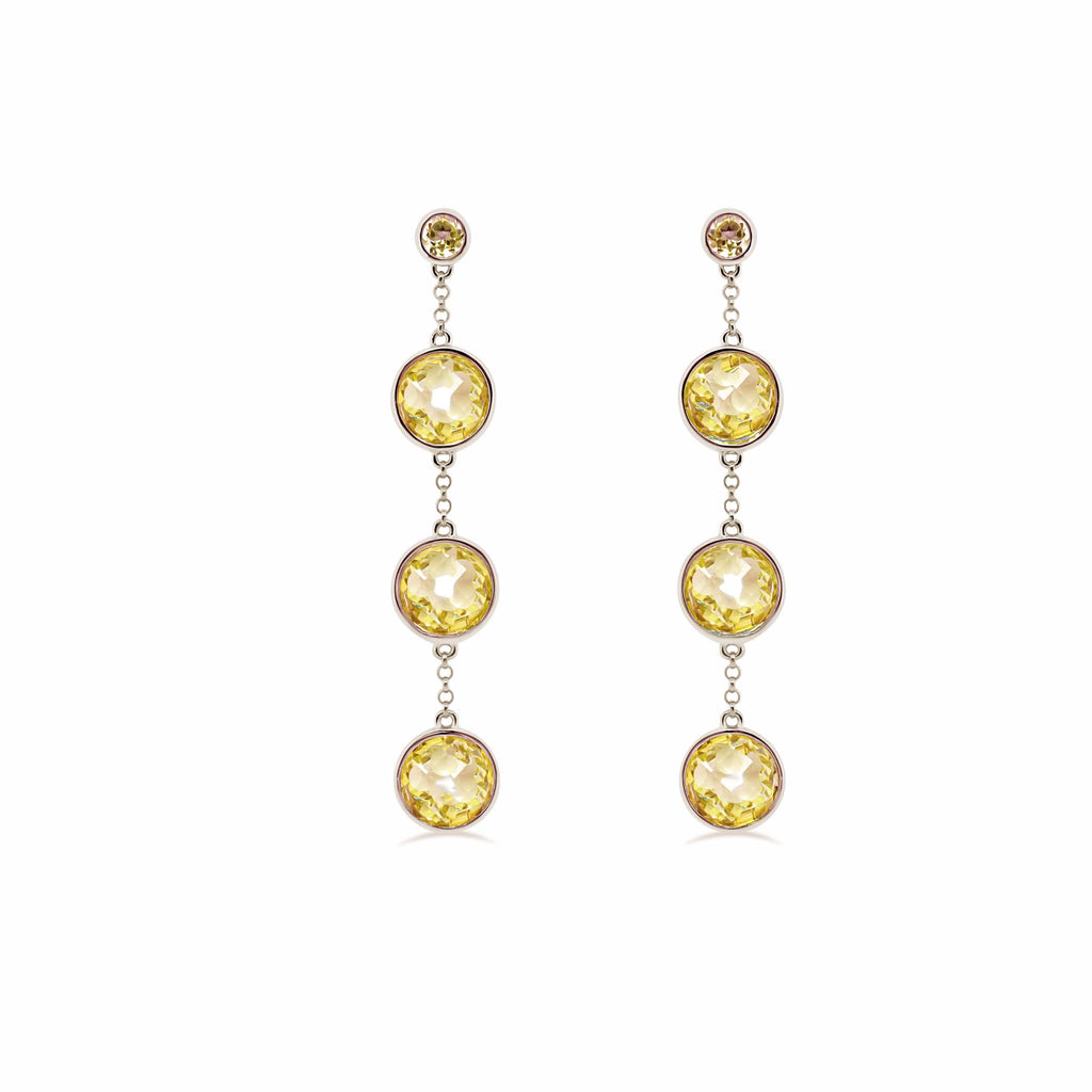 Barcelona Citrine Drop Earrings - Finnly's