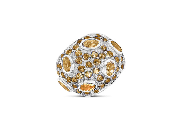 Monte Carlo Citrine Pavé Statement Ring - Finnly's