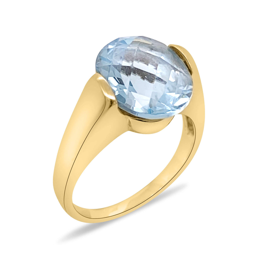 Contemporary Blue Topaz  Ring - Finnly's