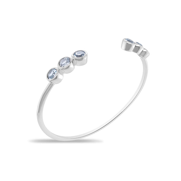 Capri Aquamarine Cuff Bangle - Finnly's