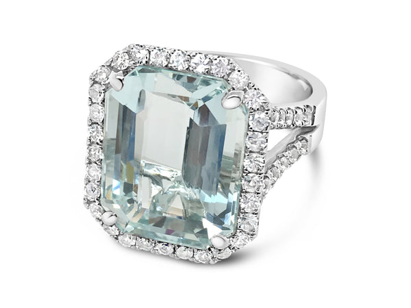 Aquamarine Cocktail ring - Finnly's