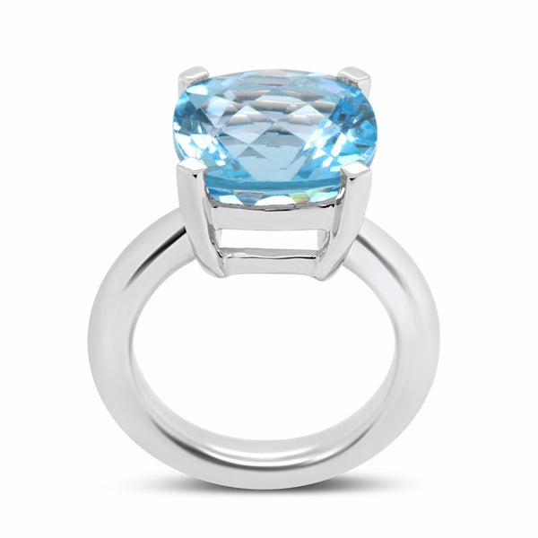 Barcelona  Blue Topaz Solitaire - Finnly's