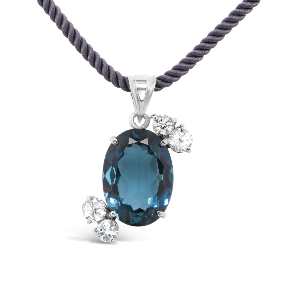 London Blue Topaz pendant - Finnly's