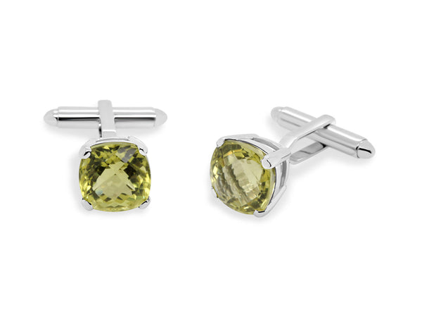 Lemon Quartz Cufflinks