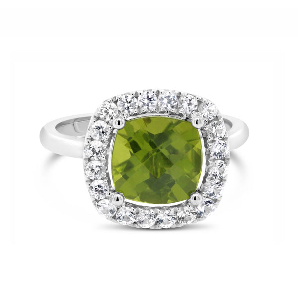Barcelona Petit Cocktail Ring with Peridot and White Sapphires