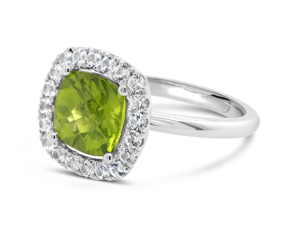 Barcelona Petit Cocktail Ring with Peridot and White Sapphires - Finnly's