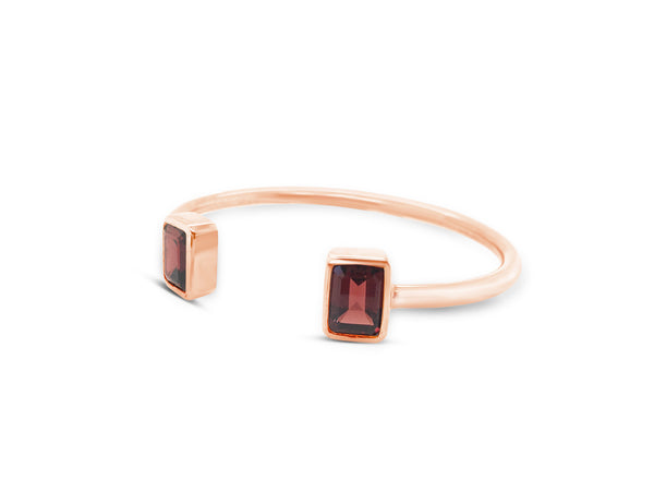 Red Garnet Cuff Bangle - Finnly's