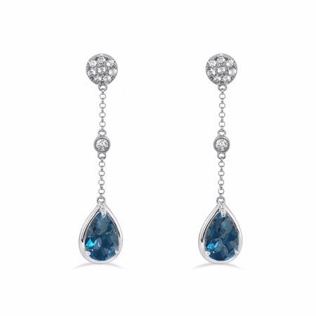 Monte Carlo Drop Earrings, select your gemstone