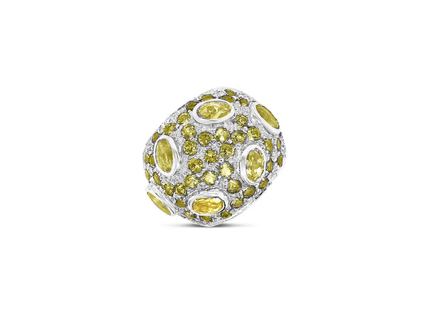 Monte Carlo Lemon Quartz Pavé Statement Ring