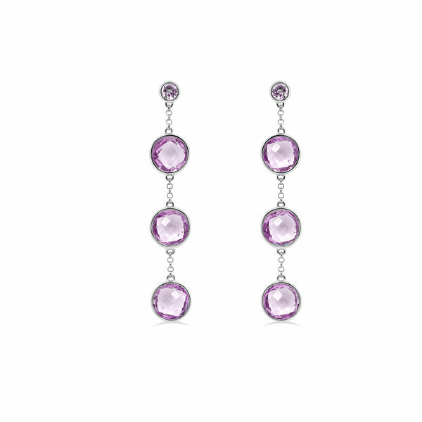 Barcelona Lavender Amethyst Drop Earrings - Finnly's