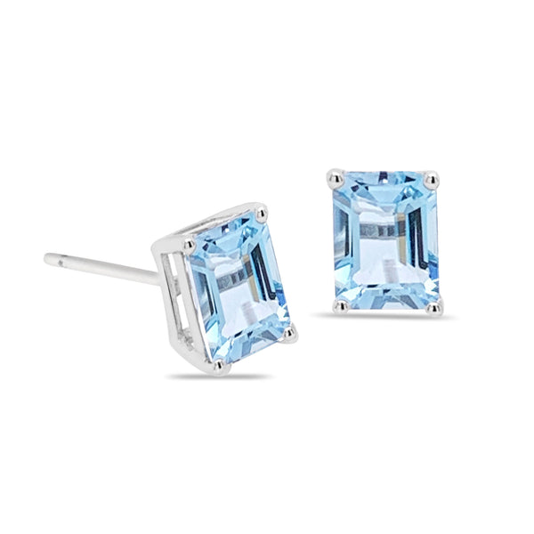 14k Marbella Blue Topaz Earrings
