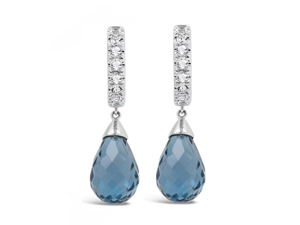Palma London Blue Topaz and Aquamarine Briolettes - Finnly's