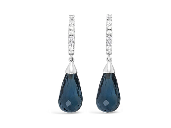 Palma London Blue Topaz and White Sapphires Briolettes - Finnly's