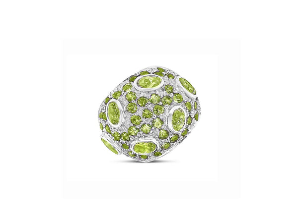Monte Carlo Peridot Pavé Statement Ring