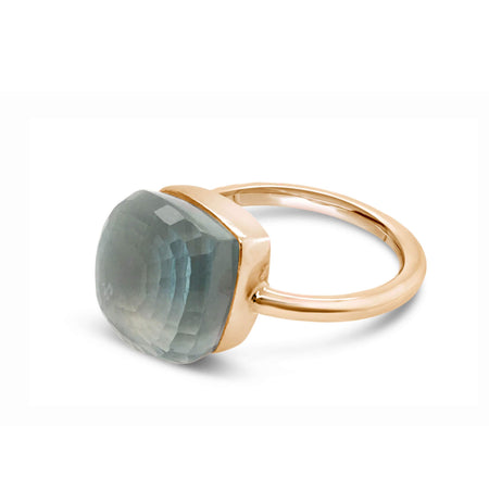 Portofino  Blue Topaz  Ring, 18k rose gold